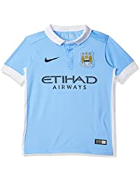 Nike Manchester City Home Stadium 2015 2016 Kids Camiseta de Manga Corta e1e62b3bba98