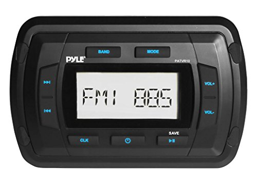 Pyle patvr10Pyle Marine Bluetooth Radio Empfänger, wasserabweisendes Stereo Head Unit, MP3/USB/AUX (Radio Bluetooth Marine)