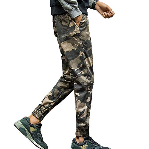 Geili Sporthose Herren Lang Sweatpants Übergröße Modern Camouflage Neun Punkte Hose Slim Fit Skinny Jogginghose Gym Fitness Jogger Hosen Freizeithosen Trainingshose M-7XL