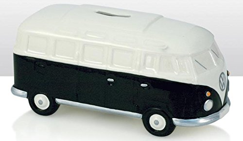 VW Volkswagen furgoneta de cerámica negro Hucha en forma de cerdo