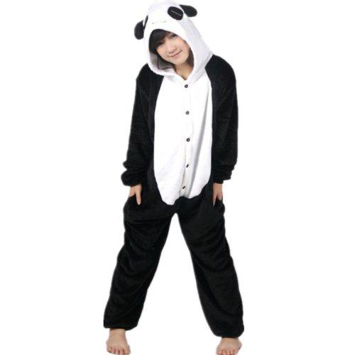 Autek, tuta, travestimento da animale, unisex, con cappuccio, costume, pigiama (pj-20) multicolore panda l