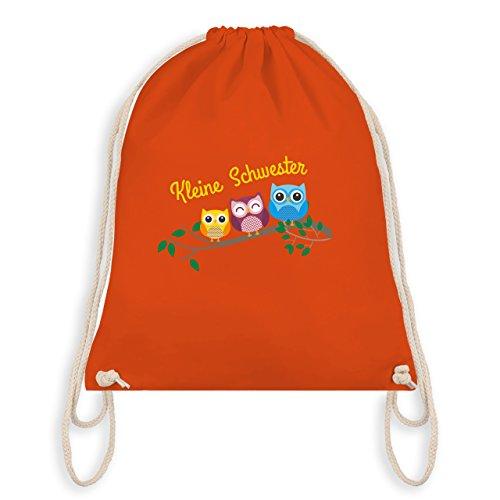 Geschwisterliebe Kind - kleine Schwester süße Eulen - Turnbeutel I Gym Bag Orange