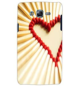 SAMSUNG GALAXY J5 MATCHSTICK HEART Back Cover by PRINTSWAG
