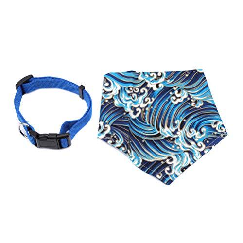 JIFNCR Kragenschal für Pet Cute Druckmuster Halstuch Dekor für Hunde und Katzen Verstellbarer Schal Bandana für Katzen Hunde, XS