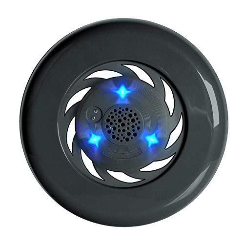 LMXQQ Frisbee Flying Discs Bluetooth-Lautsprecher, drahtlose wasserdichte Lautsprecher mit LED-Licht, for Camping Schwimmen Fitness Kinder und Haustiere Spielzeug (Color : Black)