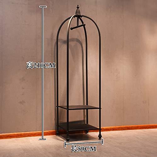 Fußboden-stehender Kleiderständer-Kleidung-hängender Kleiderständer-europäischer Kleiderständer-Speicher-Ausstellungsstand-Männer und Frauen, die Regal-Aufhänger Laden (größe : S)