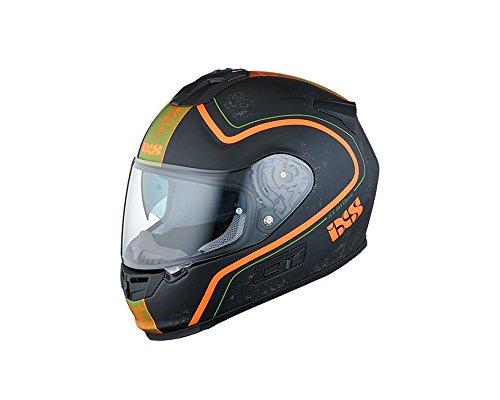 Preisvergleich Produktbild Integralhelm IXS HX 444 CLASSIC schwarz-orange matt Gr.M