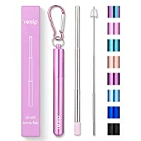 Collapsible Straw Parent 1-Pack Pink