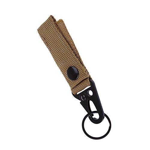 Nylon Molle Tactique Accrocher Le Mousqueton De Ceinture Touche Crochet Sangle Boucle Kaki