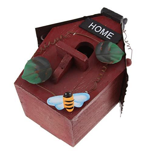 Homyl Retro Vogel Nisthöhle/Vogelhaus für Kleinvögel Rotschwänzchen, super Villa für Kleinsingvög - A#