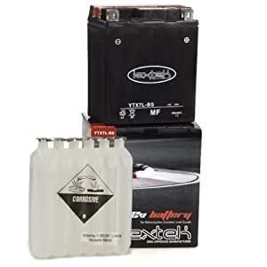 Lextek Motorcycle Battery YTX7L-BS 110x68x130mm for BIMOTA DB3 Mantra 900 1997