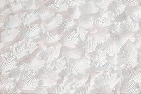 HJFF-1000~5000 pcs Verschiedene Hochzeit Dekorationen Farben silk Blume Rose Petals, Weiß, 3000 (Silk Petal Kleid)