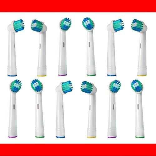 12 Stk. Aufsteckbürsten passend für --- ALLE --- Braun ORAL-B Zahnbürsten mit...