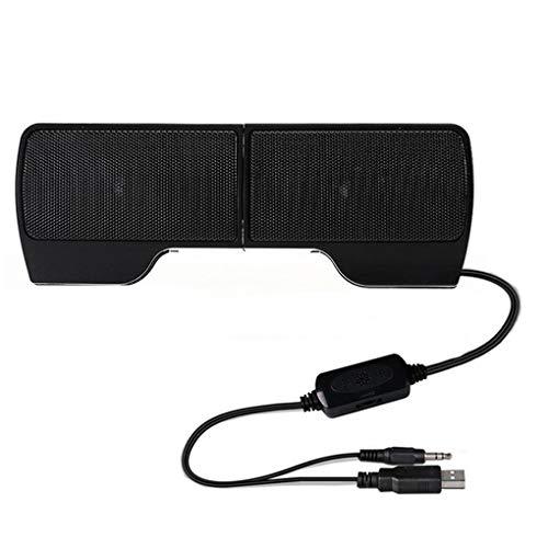 Fornateu Tragbare Mini-USB-Stereo-Lautsprecher Notebook-Computer-PC-Bildschirm Clip-on Musik-Player schwarz Laptop Notebook-lautsprecher
