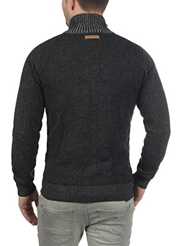 ... INDICODE Andy Herren Strickjacke Cardigan mit Stehkragen aus  hochwertiger Baumwollmischung Black (999) ...