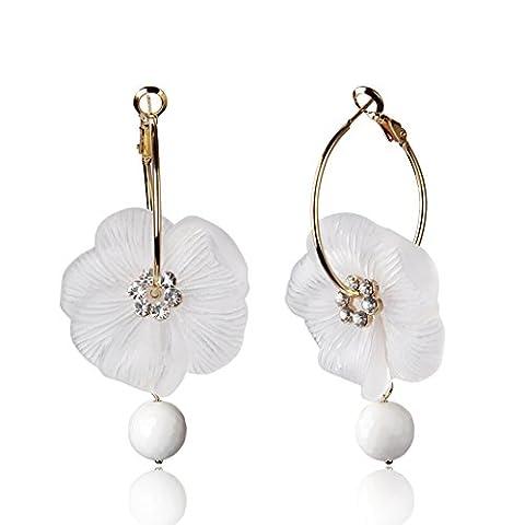 Fashion boucles d'oreilles fleur scrubs/ bague d'oreilles/ boucles d'oreilles/ personnalité tempérament-A