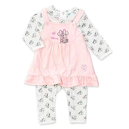 Disney Baby Set Mädchen weiß rosa   Motiv: Minnie Mouse   Baby Strampler mit Kleid für Neugeborene & Kleinkinder   Größe: 12-18 Monate (86) (Minnie Mouse Kleinkind Kleid)