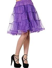 Banned Petticoat SWING TUTU LONG purple M