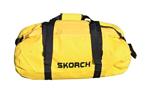 Skorch Rucksack, Seesack, wasserdicht, Yellow Waterproof Duffel Bag 30cm x 58cm (Wheeled Medium Duffle)