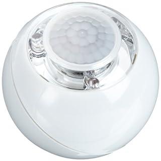 GEV 000728 LED Lichtball LLL728 120 Grad Bewegungsmelder Daemmerungsschalterbatteriebetrieb, inklusive Magnetbefestigung für Innenbetrieb, weiß