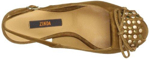 Zinda 9122, Sandali col tacco donna Marrone (Braun (Brandy))