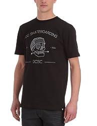 DC Shoes Herren T-Shirt Skulldaze Standard, Black, L