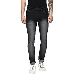 Urbano Fashion Men's Black Stretchable Slim Fit Jeans (Size : 30)