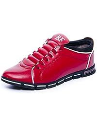 Chaussure de Cuir Homme Derbies Oxford Business Lacets Mariage Dressing  Habillée Sneakers Sport Basses Casual Noir 13259a00c775