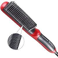 Alisadores de cabello XMDNYE Alisador de cabello eléctrico Cepillo de peine del cabello recto duradero Cepillo.
