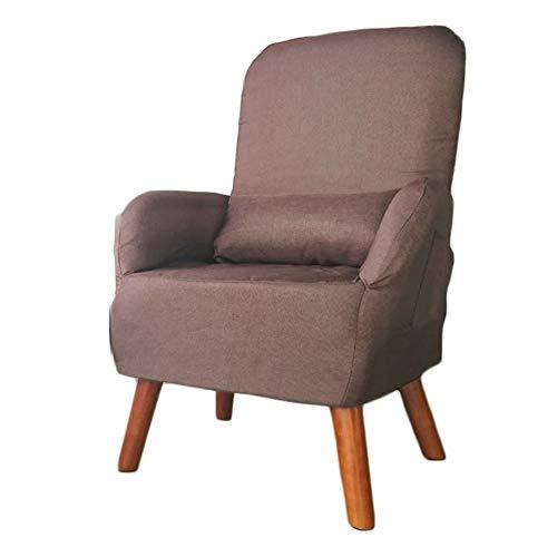 Faule Couch Wohnzimmer-Balkon, Bodenspiel Safa Chair mit Kissen, Rückenlehne, die Fütterungsstuhl der schwangeren Frau faltet (Color : Coffee)
