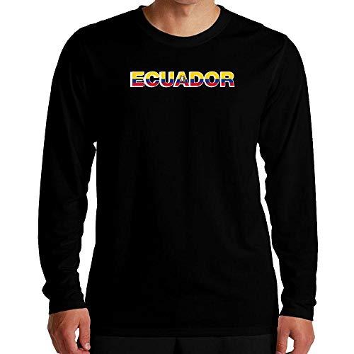 Idakoos Ecuador Country Flag Langarm T-Shirt M -