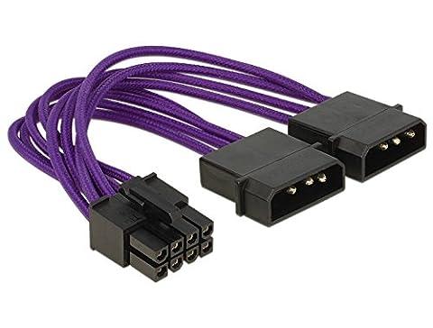 DeLOCK EPS–2x 4-polig– elektrische Kabel (EPS (8-polig) auf 2x Molex (8-polig), gerade auf gerade, Kupfer)