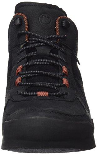 Merrell Herren Burnt Rock Mid Waterproof Sneaker Schwarz (Black)