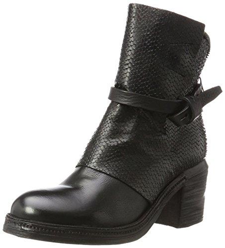 A.S.98 Damen Ankle Stiefel, Schwarz (Nero), 38 (Schwarze Stiefel Schnallen Mit)