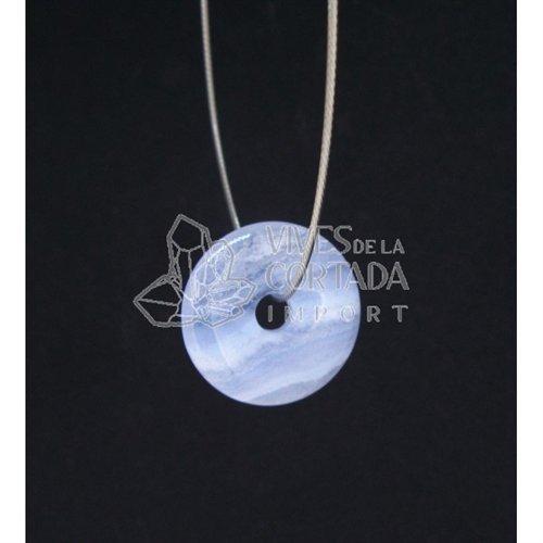 Donut di calcedonio blu (da ciondolo), piccolo