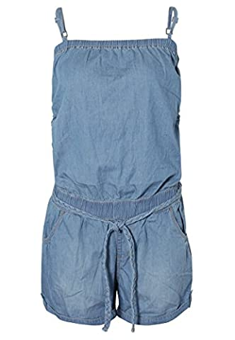 SUBLEVEL Damen Denim Jumpsuit | Overall | Kurzer Jeans One-Piece