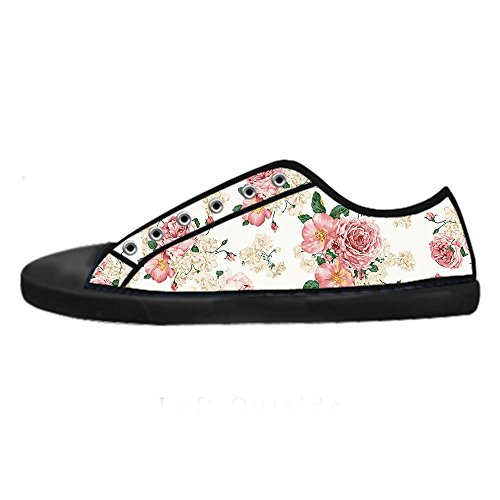 Dalliy Floral Flower Women's Canvas Shoes Lace-up High-top Footwear Sneakers Chaussures de toile Baskets A