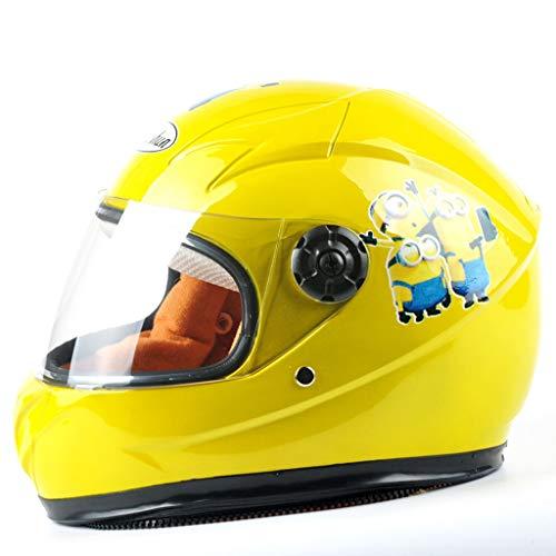 Zxw casco- casco elettrico per bambini ragazzo e ragazza adatti ai bambini di età compresa tra 6 e 10 anni (colore : giallo)