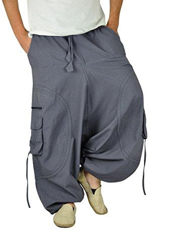Comodi con cavallo a goccia Pantaloni GOA per l'uomo e per la donna come abbigliamento alternativo da virblatt M - XL- Abgefahren