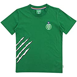 Licence Officielle T-Shirt As St-Etienne Griffe Vert Junior - Collection Saint Etienne