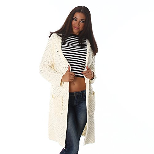 Voyelles -  Cardigan  - trench - Donna crema/bianco