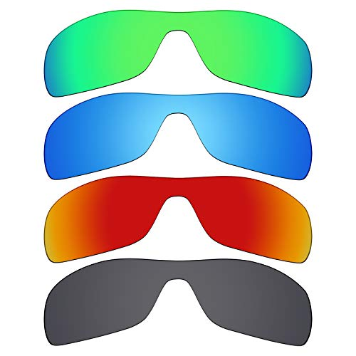 Mryok polarisierte Ersatzgläser für Oakley Antix Sonnenbrillen - Stealth Black/Fire Red/Ice Blue/Smaragdgrün, 4 Paar
