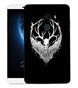 Snoogg White Fury Face Designer Protective Back Case Cover For LETV LE MAX