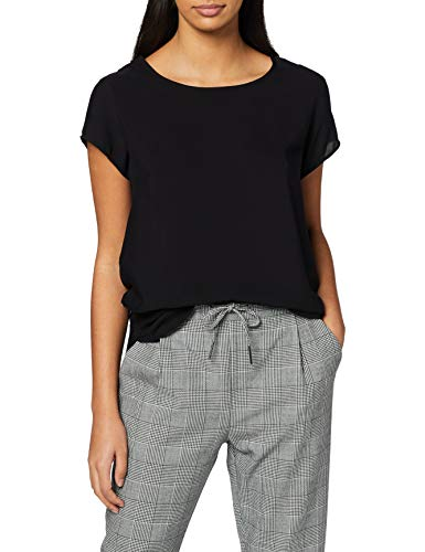 VERO MODA Damen Boca SS TOP T-Shirt, Schwarz (Black), 42 (XL) -