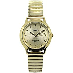 POOLS Women's Quartz Watch 1233 with Metal Strap