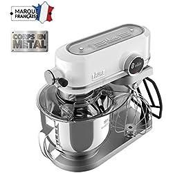 Faure FKM-902ME1 Robot Pâtissier Magic Baker Excellence - 800W transmission directe - Mouvement Planétaire - Bol Inox 5,2L - Coloris Blanc