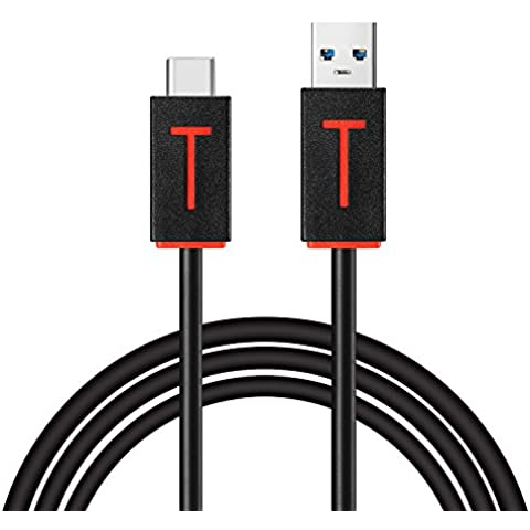 Liqoo® 1M Cable USB C a USB 3.0 Cable de datos Type C Cable de Carga tipo C Adecuado para el Macbook 12 OnePlus 2 Nexus 5X Nexus 6P Chromebook Pixel Nokia N1 tabla Lumia 950 / 950XL HTC 10 y más