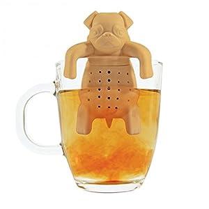 Mops Teesieb - Hund Teeei Silikon Teefilter Tee Teekugel