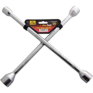 Extra Tough Am-Tech 4 Way Wheel Wrench - (Eco Packaging)