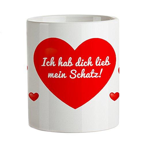 Tassenwerk – Magische Tasse mit Farbwechsel – Kaffeetasse mit Liebesbotschaft – Motiv: Herz – Geschenkidee zum Valentinstag und Geburtstag – Geschenk für Frauen und Männer